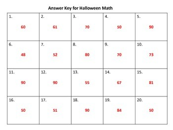 Halloween Math QR Code Hunt