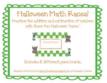 Halloween Math Races