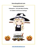 """K -Halloween Math, Reading & Braille""""Wendy the Blind Witch"""" for Gifted /Talented"""