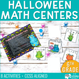 Halloween Math Centers for 6th Grade