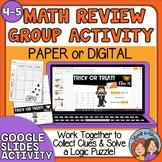 Halloween Math Review Mystery Group Activity Google Digita