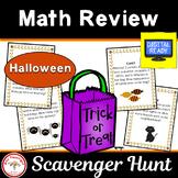 Halloween Math Review Scavenger Hunt