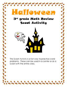 Halloween Math Review Scoot Activity