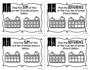 Halloween Math Review Task Cards