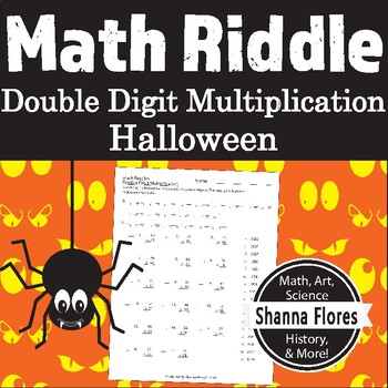 Halloween Math Riddle - Multiplication - Fun Math