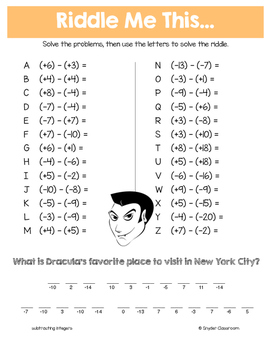 Halloween Math: Middle School Math Riddles