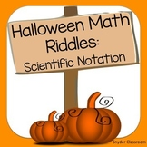 Halloween Scientific Notation Math Riddles