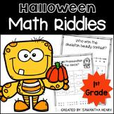 Halloween Math Riddles for 1st Grade