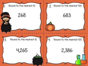 Halloween Math Game Rounding and Estimating Sums and Differences