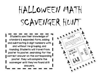 Halloween Math Scavenger Hunt