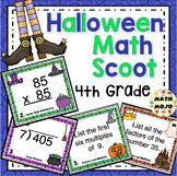 4th Grade Halloween Math Activities - 4th Grade Math Scoot Games