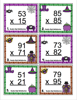 4th Grade Halloween Math Activities - 4th Grade Math Scoot Games