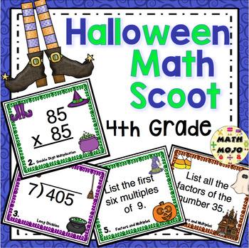Halloween Math Scoot - 4th Grade