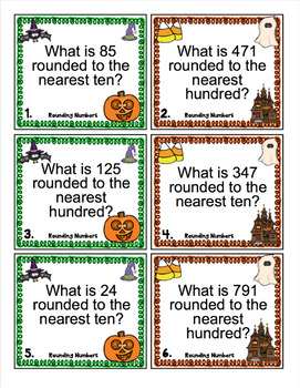 Halloween Math Scoot - 3rd Grade