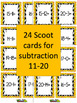 Halloween Math Scoot Game with Subtraction 11 to 20