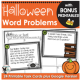Halloween Math Task Cards with BONUS Printables
