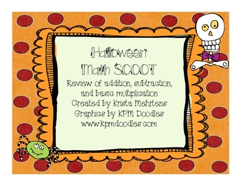 Halloween Math Scoot for students