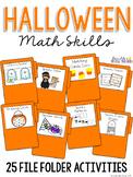 Halloween Math Skills File Folders (25 Tasks Included)