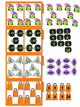 Halloween Math Skills File Folders (25 Tasks Included)