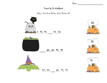 Halloween Math - Skip Count by 2, 5, and 10