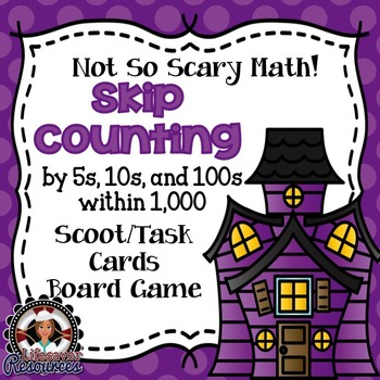 Halloween Math Center Game Skip Count within 1,000