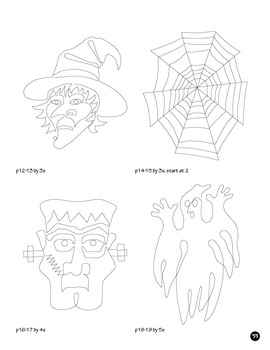 Skip Count by 1, 2, 3, 4, 5, 6, 7, 8, 10, Halloween Dot to Dot Math Bundle