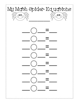 Halloween Math Spider Craftivity Common Core Aligned