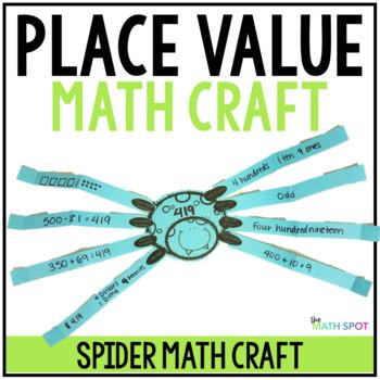 Halloween Math Spider Craftivity