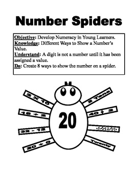 Halloween Math Spiders with Numeracy Legs