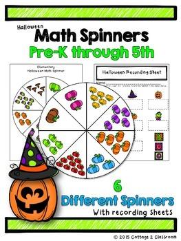 Halloween Math Spinners