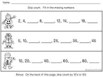 Halloween Math {Spooky Math Practice!}