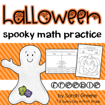Halloween Math Practice (freebie!)
