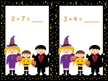 Halloween Math Station Games for Primary...Editable