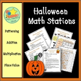 Halloween Math Games - Patterning, Addition, Multiplication, Place Value