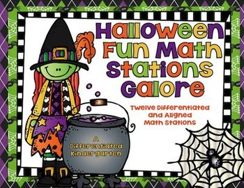 Halloween Math Stations Galore-12 Differentiated and Align