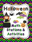 Halloween Math Centers Stations and Activities
