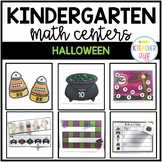 Halloween Kindergarten Math Centers