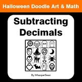 Halloween Math: Subtracting Decimals - Doodle Art & Math
