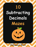 Halloween Math: Subtracting Decimals Maze