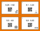 Halloween Math: Subtracting Decimals QR Code Task Cards