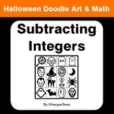 Halloween Math: Subtracting Integers - Doodle Art & Math