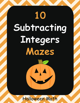 Halloween Math: Subtracting Integers Maze