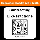 Halloween Math: Subtracting Like Fractions - Doodle Art & Math