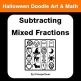 Halloween Math: Subtracting Mixed Fractions - Doodle Art & Math