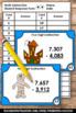 Halloween Math Task Cards Subtracting 4 Digit Numbers Subtraction Activities
