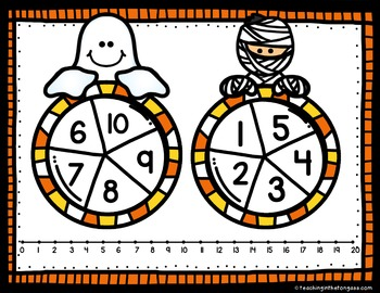 Halloween Math Subtraction and Addition Game