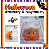 Halloween Math Symmetry and Asymmetry Activity with Graphs