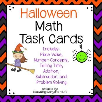 Halloween Math Task Cards
