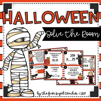 Halloween Math Task Cards (or Scoot!)
