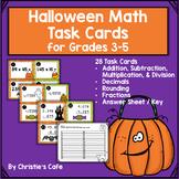 Halloween Math Task Cards Grades 3-5